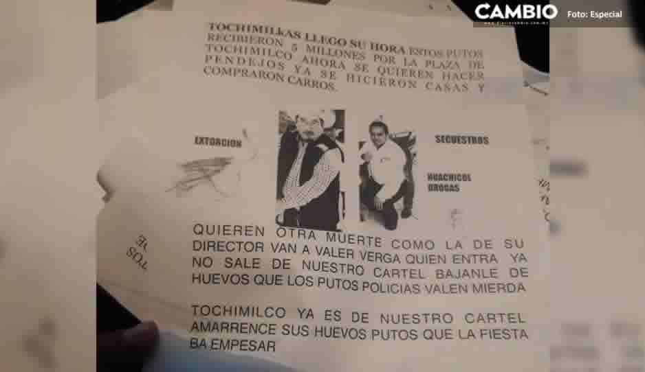 Con narcovolantes amenazan a las autoridades de Tochimilco