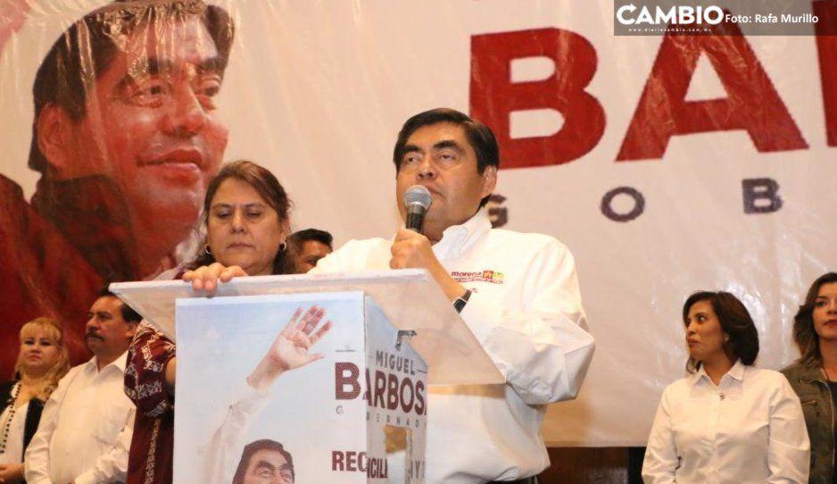 Indemnizará Barbosa a extrabajadores despedidos en el sexenio de Moreno Valle