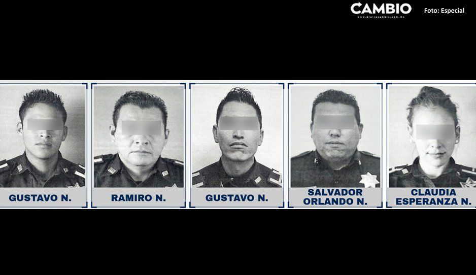 Procesan a 5 polis ratas por robar 10 mil pesos a un cuentahabiente