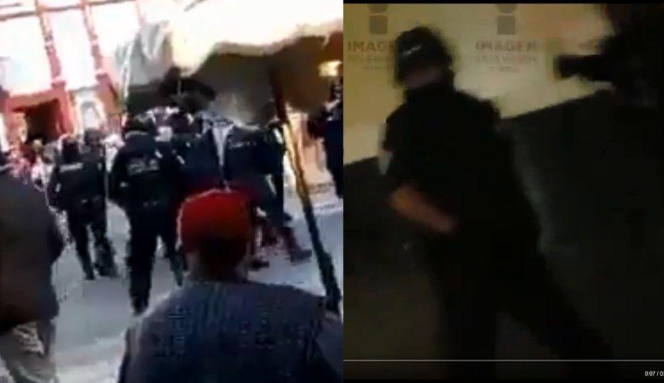 Retienen a 10 policías estatales durante enfrentamiento en Huejotzingo (VIDEO)