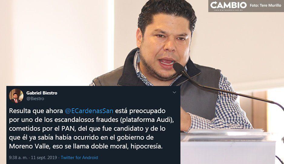 Biestro tacha de hipócrita a Cárdenas por colgarse de la Trama Audi: fue candidato del PAN, él ya sabía