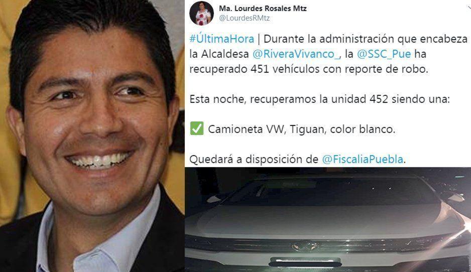SSC recupera camioneta robada a esposa de Lalo Rivera