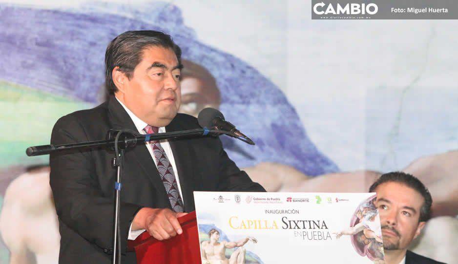 Barbosa inaugura réplica de la Capilla Sixtina: acercará el arte a los poblanos