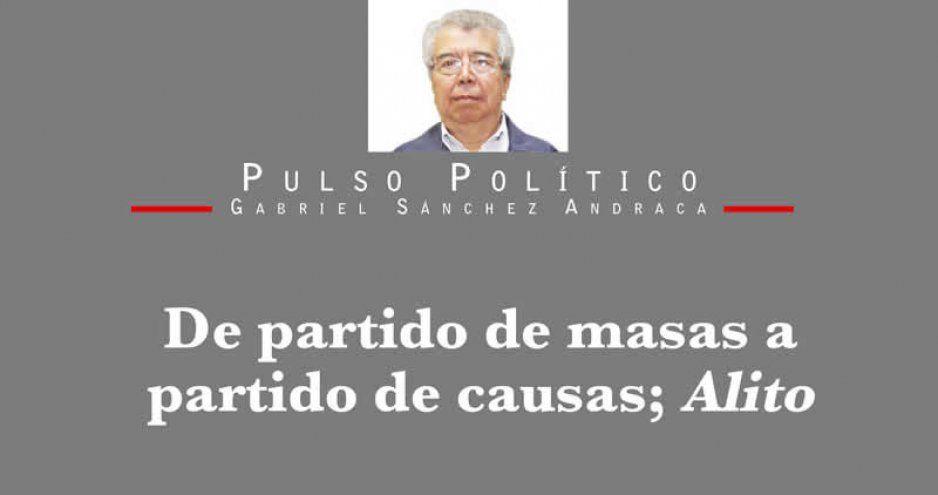 De partido de masas a partido de causas; Alito