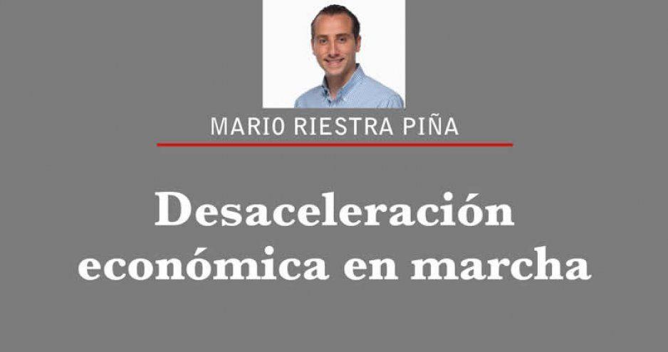 Desaceleración económica en marcha