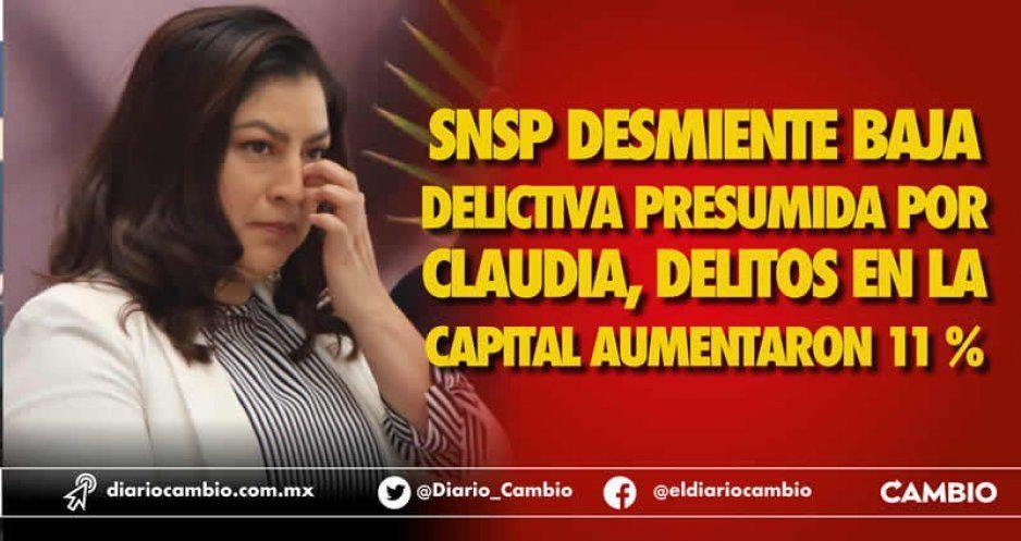 En Puebla capital, la delincuencia aumentó 11 % con Claudia Rivera