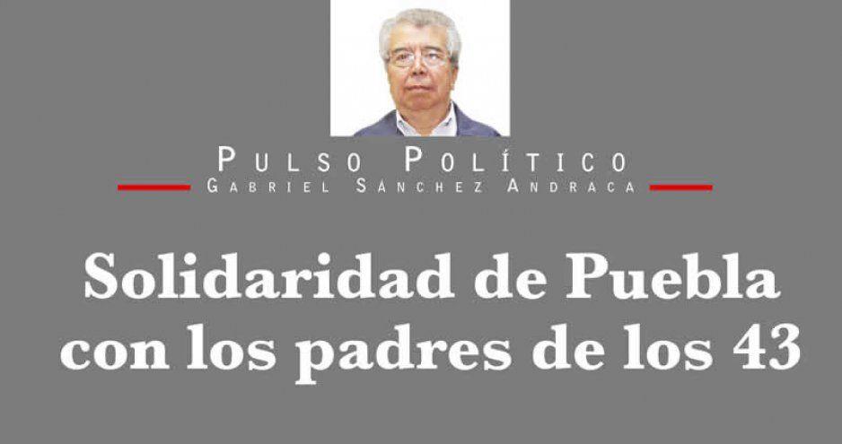 Solidaridad de Puebla con los padres de los 43