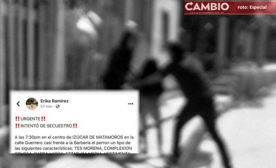 ¡Cuidado vecinos! Intentan robar a niña de 12 años en pleno centro de Izúcar de Matamoros