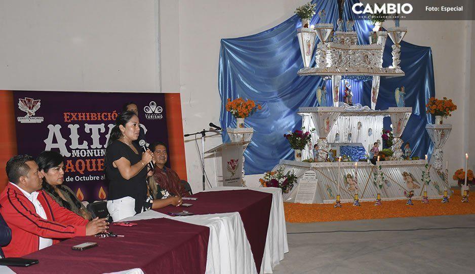 Exhiben Altar Monumental de Huaquechula en Cuautlancingo
