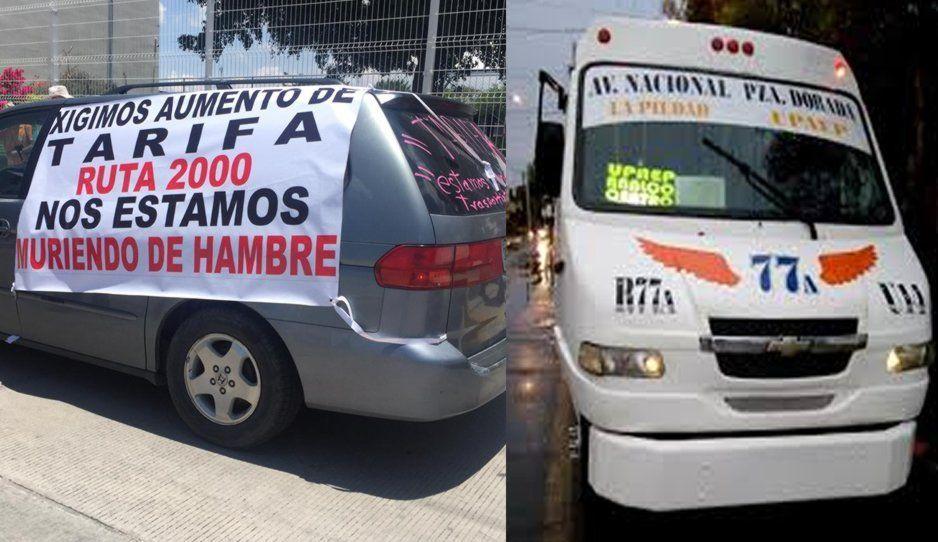 Transportistas esperan a AMLO en Atlixco para exigir aumento de la tarifa de 6 a 8 pesos