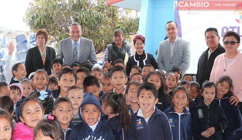 Más escuelas beneficiadas en Atlixco con el programa Estar bien para aprender mejor