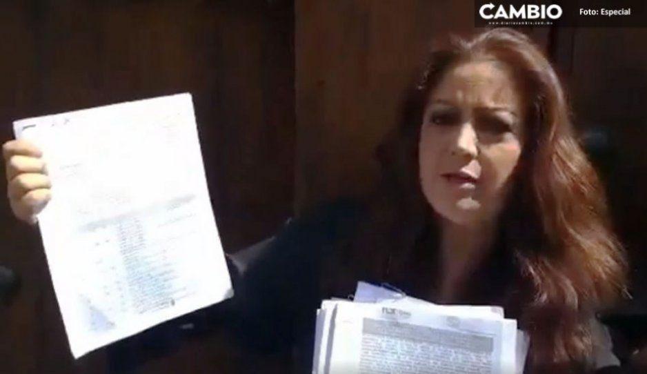 Violeta Lagunes rompe fronteras, ahora anda de revoltosa en Tlaxcala por reemplacamiento