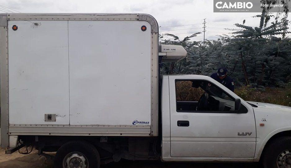 Policías de Texmelucan aseguran unidad abandonada en la México-Puebla