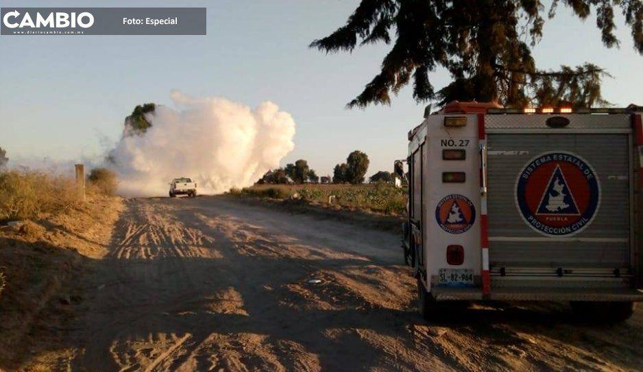 Reportan fuerte olor a gas en Los Reyes de Juárez; sigue  cerrada la Puebla–Orizaba