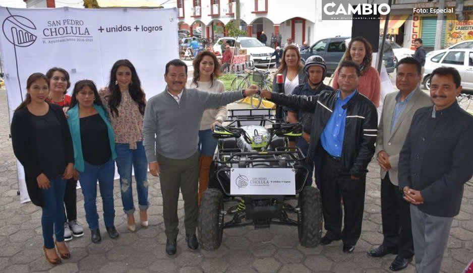 Tendrán juntas auxiliares de San Pedro Cholula infraestructura carretera, informa Arriaga Lila