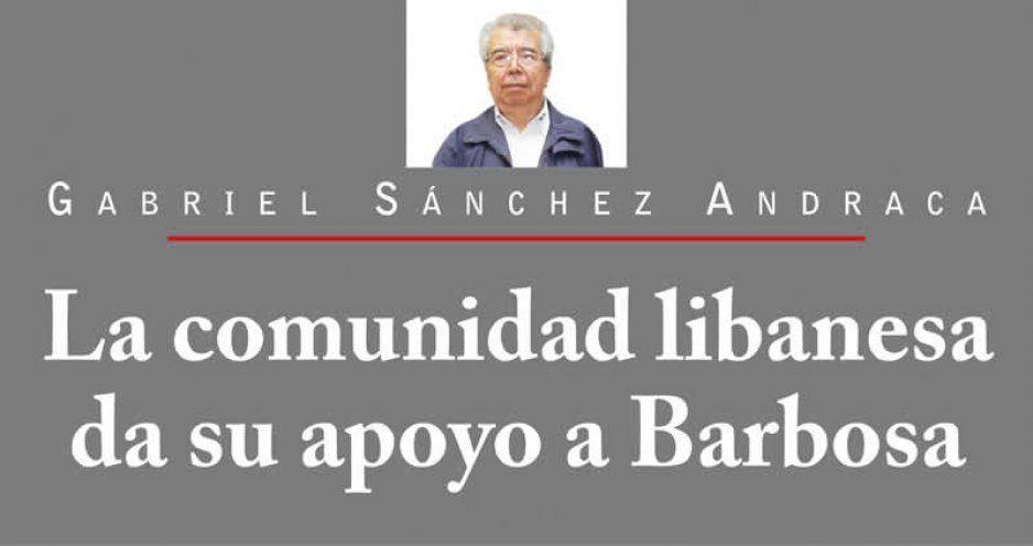 La comunidad libanesa da su apoyo a Barbosa