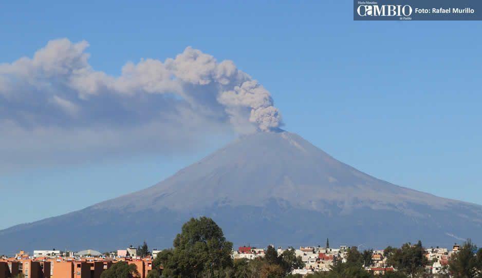 ¡El Popo sigue activo! Registranueve explosiones en menos de 24 horas
