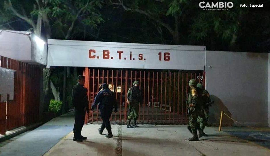 Guardia Nacional y Policía Municipal frustan robo al Cbtis 16 Atlixco