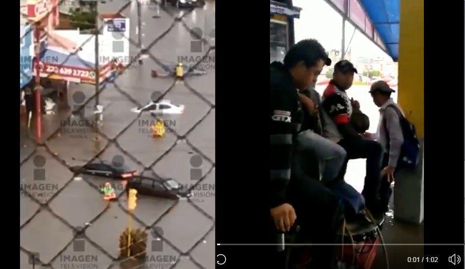 VIDEO: Transeúntes quedan atrapados en la alberca olímpica que se formó en La Margarita