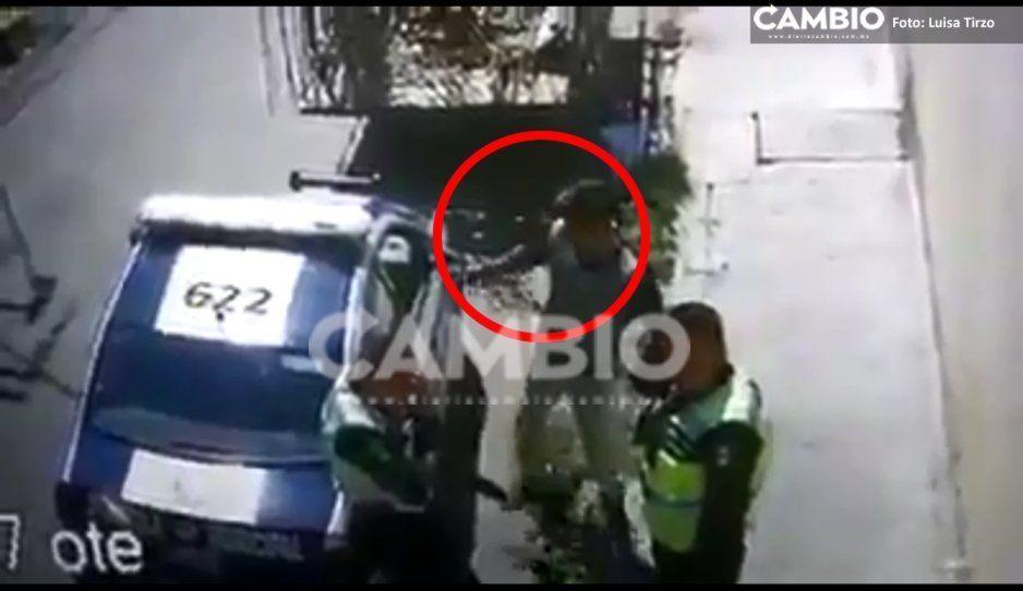 VIDEO: Exhiben a policías mordelones de San Pedro Cholula y alcalde Arriaga no hace nada