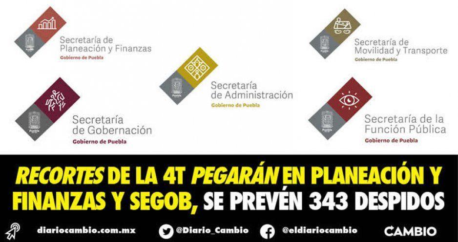 Recortes de la 4T pegarán en Planeación y Finanzas y Segob, se prevén 343 despidos
