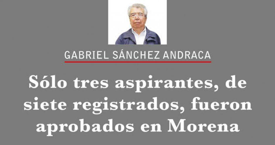 Sólo tres aspirantes, de siete registrados, fueron aprobados en Morena