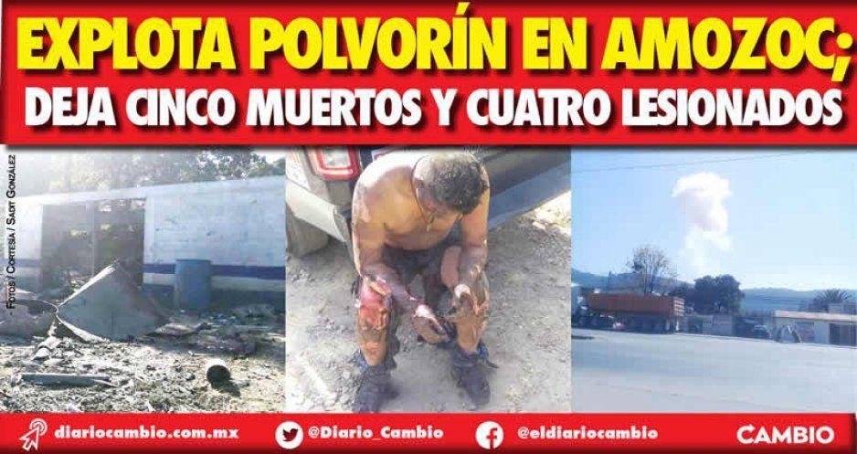 Explota polvorín en Amozoc; deja cinco muertos y cuatro lesionados