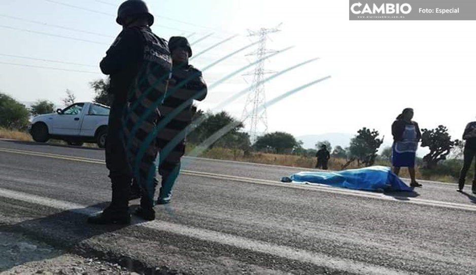 Asesinan a comerciante durante asalto en la federal Puebla-Tehuacán; se llevan su camioneta