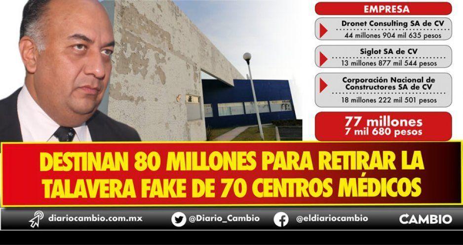 Invierten 80 millones de pesos para retirar la talavera fake del morenovallismo en hospitales