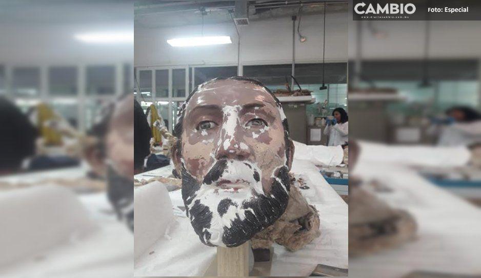 En un 60% INAH restaura imagen de Santiago Apóstol