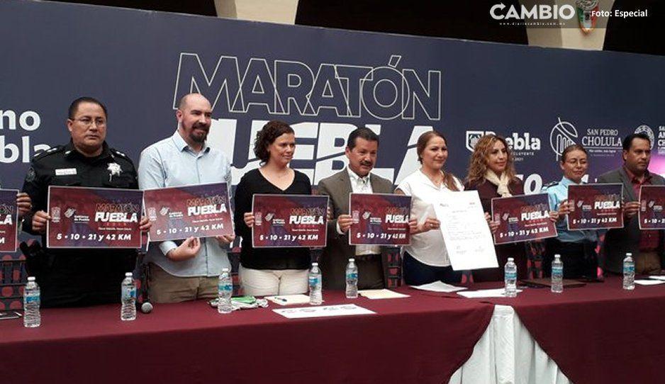 Yadira Lira presenta el Sexto  Maratón de Puebla con nueva ruta