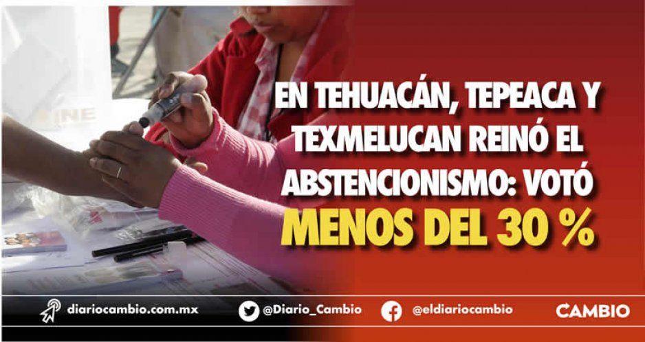 En Tehuacán, Tepeaca y Texmelucan reinó el abstencionismo: votó menos del 30 %