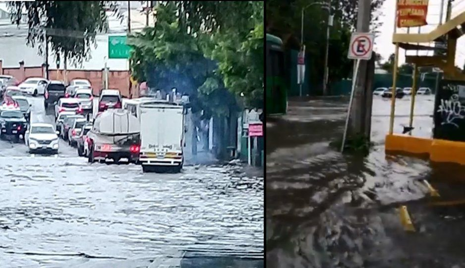 En menos de una hora se forma albercota entre Zavaleta y Camino Real tras fuerte lluvia (FOTOS y VIDEO)