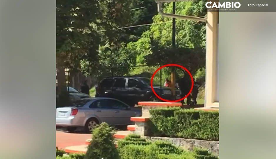 Ladrón se estrella contra una casa tras robar automóvil en Juan Galindo; lo detiene la GN (VIDEO)