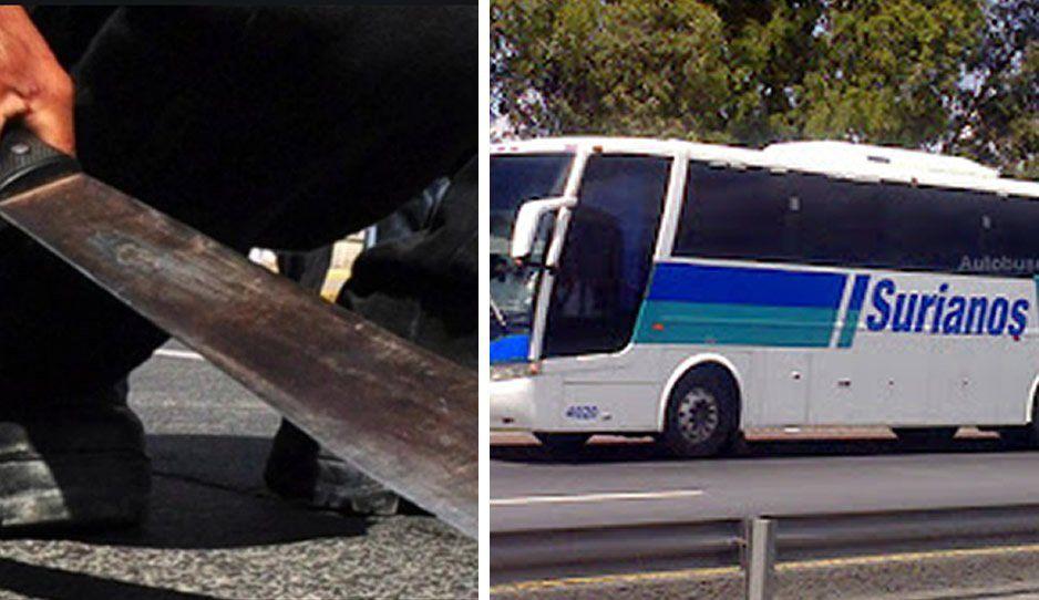 Sujeto machetea despiadadamente a chofer de un autobús Surianos sobre la Puebla-Tehuacán