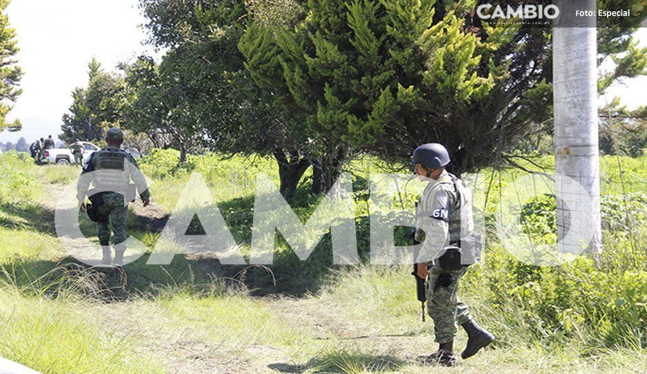 Siguen buscando cadáveres en fosa clandestina de Huejotzingo