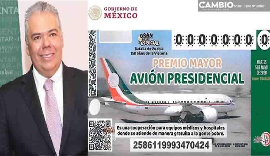 """Advierten empresarios poblanos que no compraran """"cachitos"""" para el avión presidencial"""
