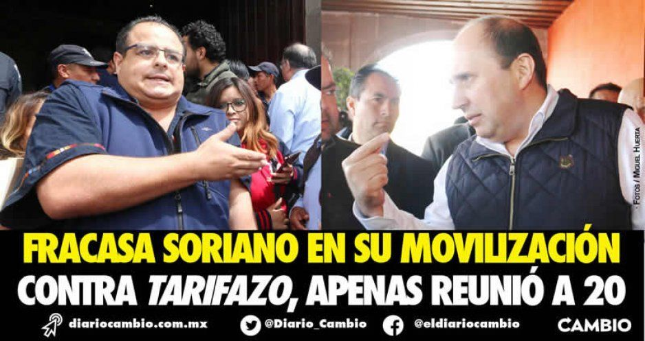 Fracasa Soriano en su movilización: apenas llevó 20 personas a Casa Aguayo  (VIDEOS)