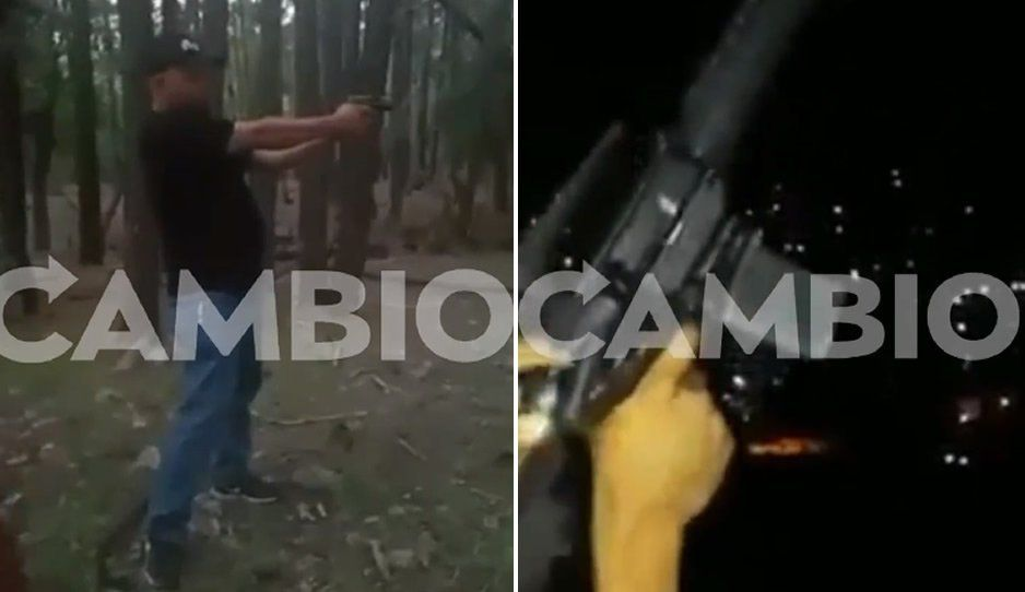 Surgen autodefensas apoyados por michoacanos en Teziutlán; se exhiben disparando con metralletas (VIDEO)