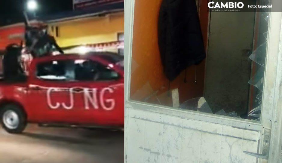 Presuntos integrantes del CJNG irrumpen en fraccionamiento de Atlixco y atracan a vecinos