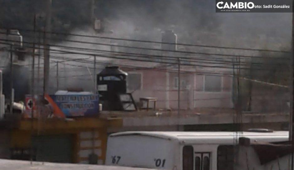 Explota tanque de gas en Amozoc (VIDEO)
