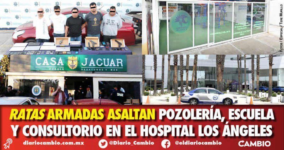 Ratas armadas asaltan pozolería, escuela y consultorio en el Hospital Los Ángeles
