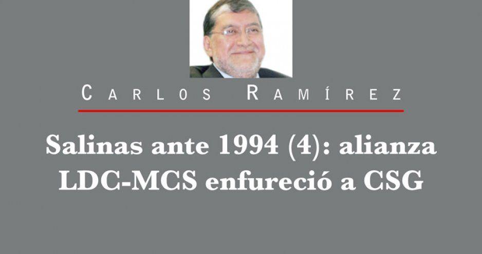 Salinas ante 1994 (4): alianza LDC-MCS enfureció a CSG