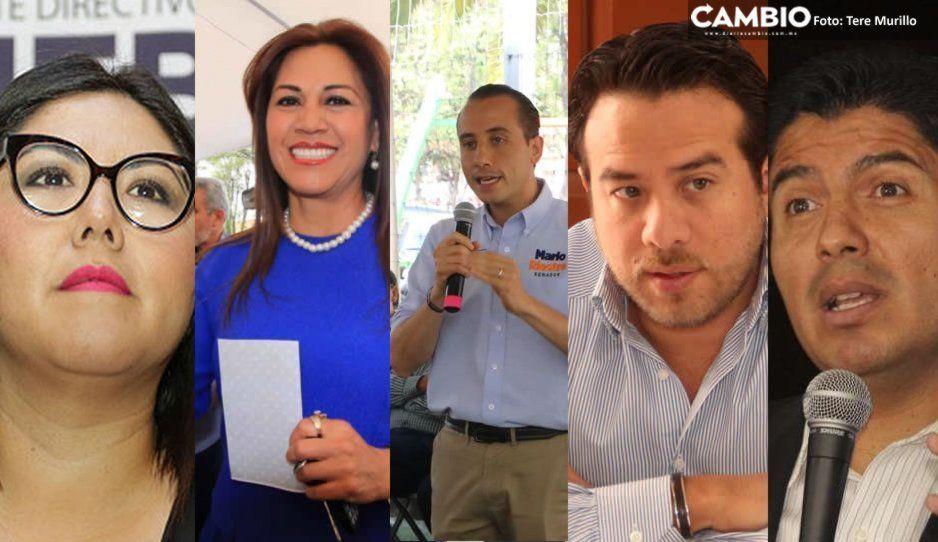 Genoveva, Blanca Jiménez, Riestra, Oswaldo y Lalo, los candidatos del PAN para la alcaldía de Puebla en 2021