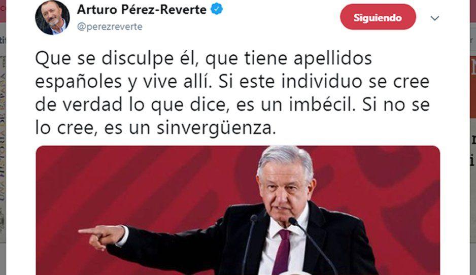 Escritor español revienta contra AMLO: es un imbécil, sinvergüenza