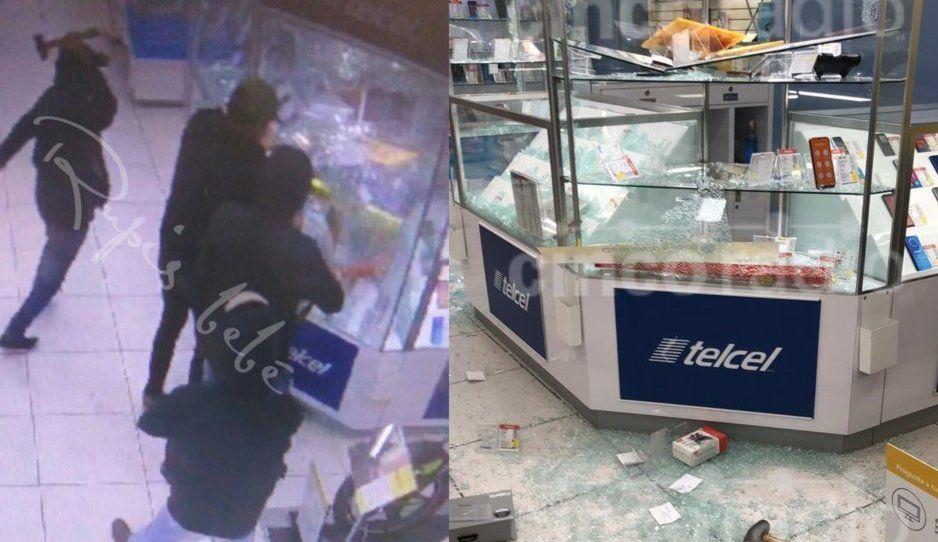 Atracan y destrozan Coppel frente a Plaza La Victoria, se llevaron todos los celulares (FOTOS y VIDEO)