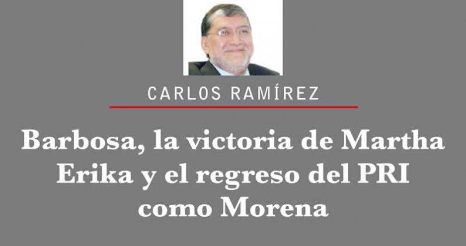 Barbosa, la victoria de Martha Erika y el regreso del PRI como Morena