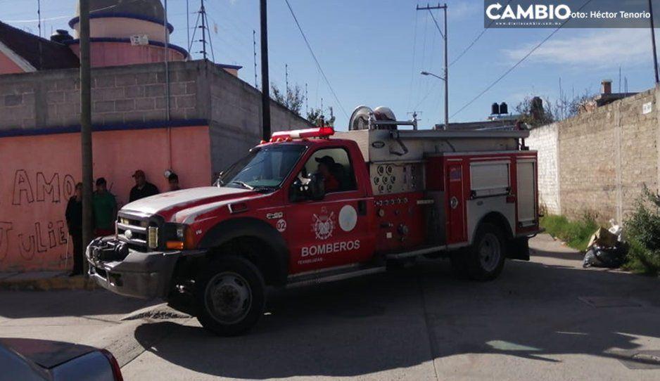 Incendio en casa alarma a vecinos de Texmelucan