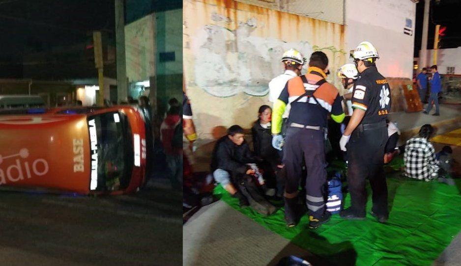 Brutal choque entre rutas 55 y 16 deja a once pasajeros heridos en la colonia Amor (VIDEO)