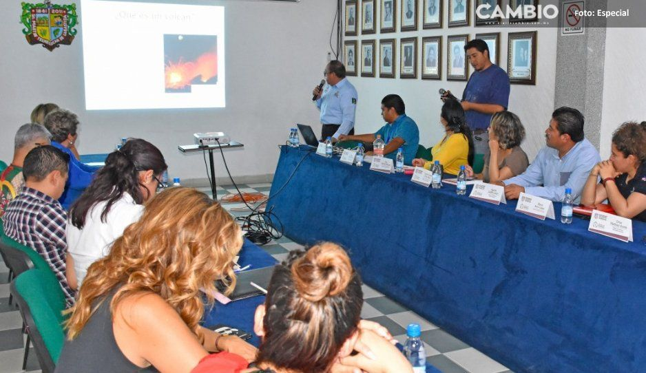 Texmelucan alista protocolos y refugios temporales en caso de erupción